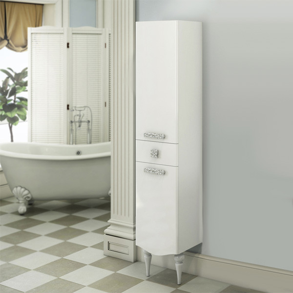 Колонна напольная белый глянец Comforty Монако 00003129168 comforty xd а60