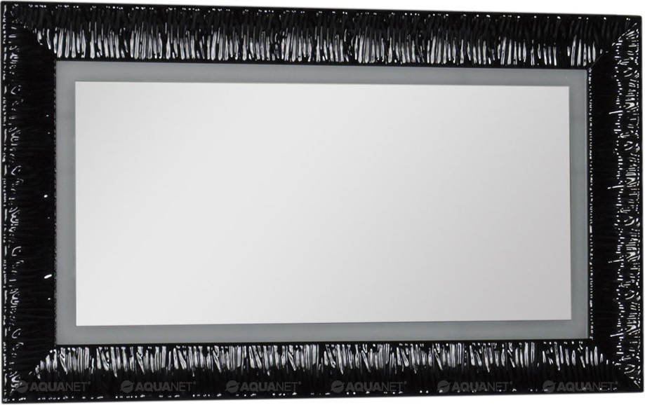 Зеркало 120х70 см черный Aquanet Мадонна 00168326 поворотный стол m 70 48 плюс для 3d фото