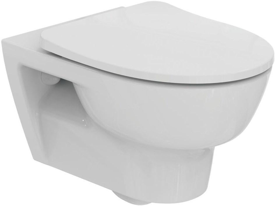 Подвесной безободковый унитаз с сиденьем микролифт Ideal Standard Esedra T365701 унитаз подвесной с сиденьем микролифт ideal standard tonic ii aquablade k316701