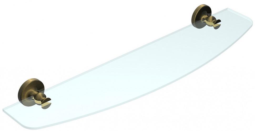 Полка стеклянная 60 см Rush Crete CR35610 полотенцедержатель 60 см rush crete cr35531