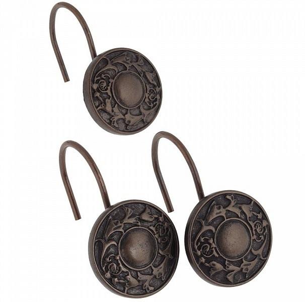 Набор из 12 крючков для шторки Carnation Home Fashions Oil Rubbed Regency Bronze PHP-REG/67 фото