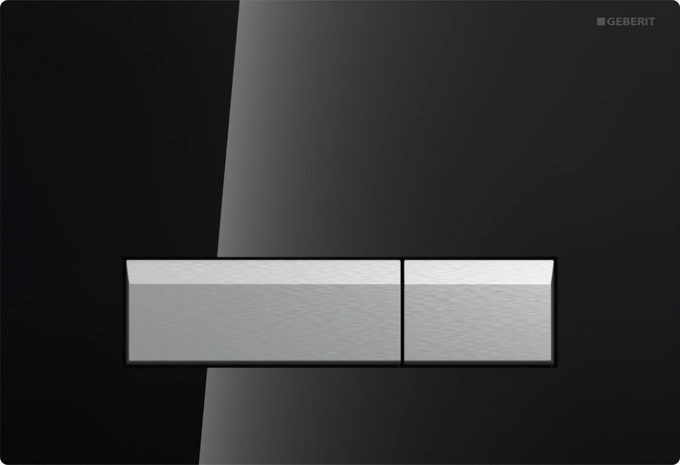Смывная клавиша Geberit Sigma40 черный/матовый алюминий для двойного смыва со встроенной системой удаления запаха 115.600.SJ.1 фото
