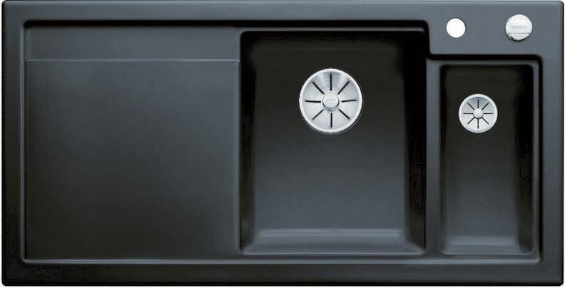 Кухонная мойка Blanco Axon II 6S InFino черный 524149 кухонная мойка blanco axon ii 6s infino матовый белый 524142