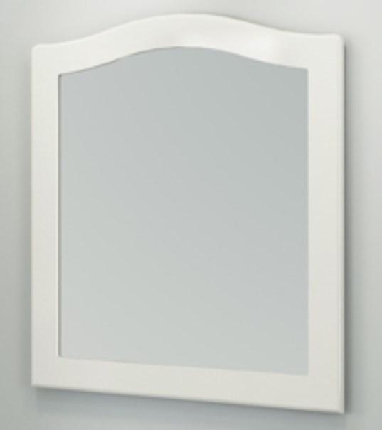 Зеркало 80х90 см белый глянец Comforty Монако 00003129893 зеркало comforty монако 120 белое