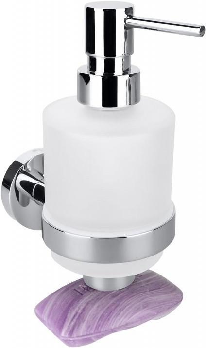 Дозатор жидкого мыла с магнетической мыльницей Bemeta Omega 104109182 дозатор для жидкого мыла bemeta настенный 104109017