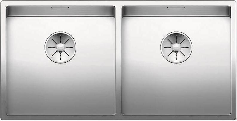 Кухонная мойка Blanco Claron 400/400-IF InFino зеркальная полированная сталь 521617 кухонная мойка blanco claron 700 if infino зеркальная полированная сталь 521580