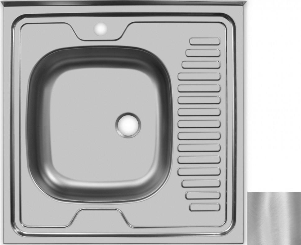Кухонная мойка матовая сталь Ukinox Стандарт STD600.600 ---4C 0L- мойка накладная ukinox стандарт eco4 левая 800х600х145мм матовая
