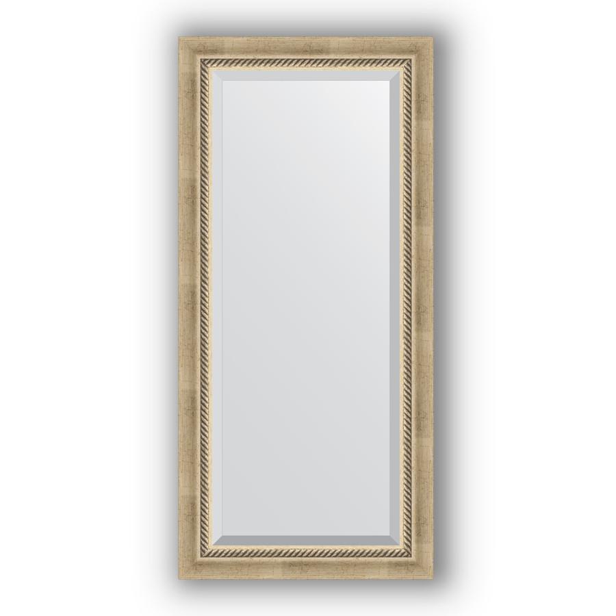 Зеркало 53х113 см состаренное серебро с плетением Evoform Exclusive BY 1142 зеркало evoform exclusive 133х53 состаренное серебро с плетением
