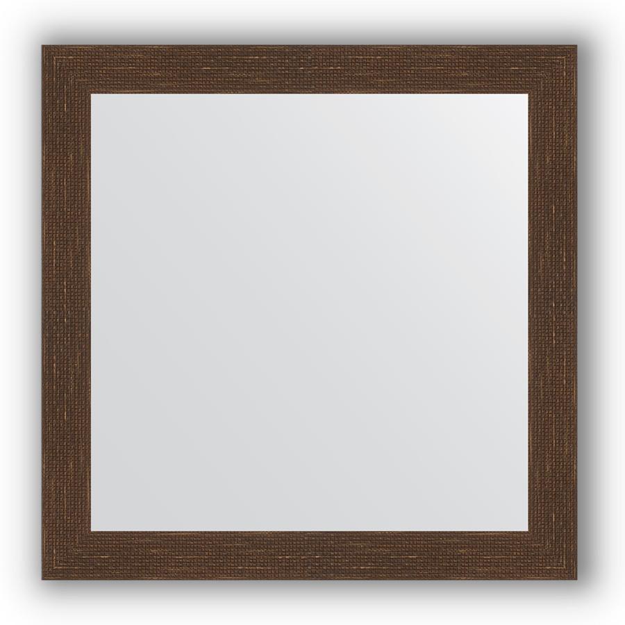 Зеркало 76х76 см мозаика античная медь Evoform Definite BY 3241 зеркало evoform definite 146х56 мозаика античная медь