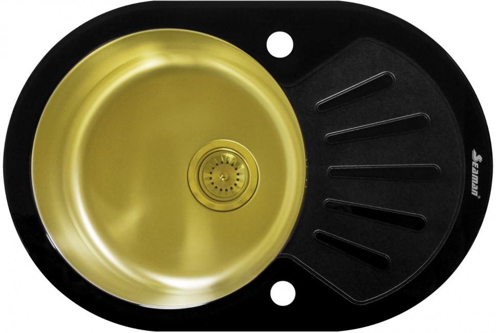 Кухонная мойка Seaman Eco Glass SMG-730B-Gold.B