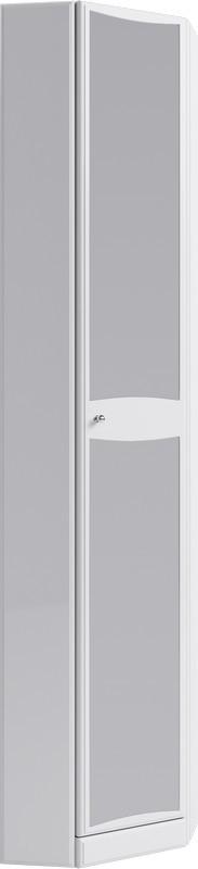Фото - Пенал угловой с полками и зеркалом белый глянец Aqwella Barcelona Ba.05.45/L пенал с двумя ящиками белый глянец aqwella barcelona ba 05 13