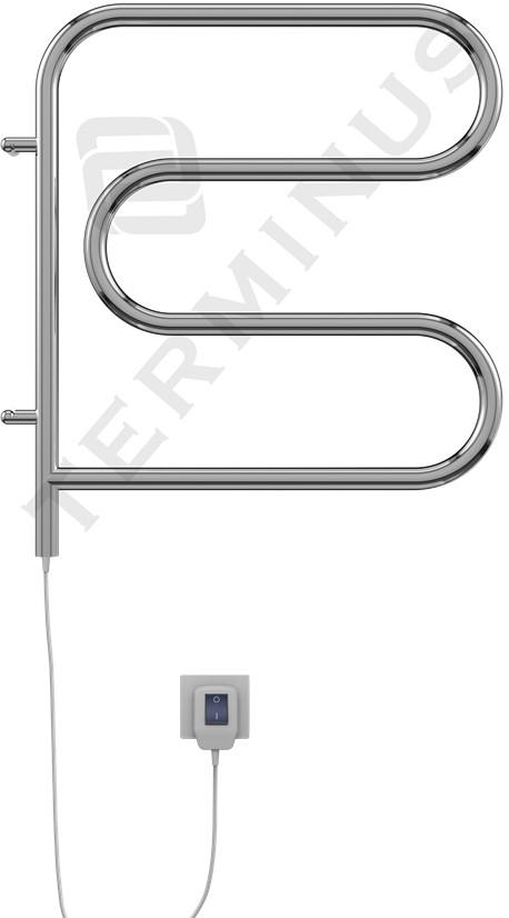 Полотенцесушитель электрический 500x500 мм Terminus F-образный