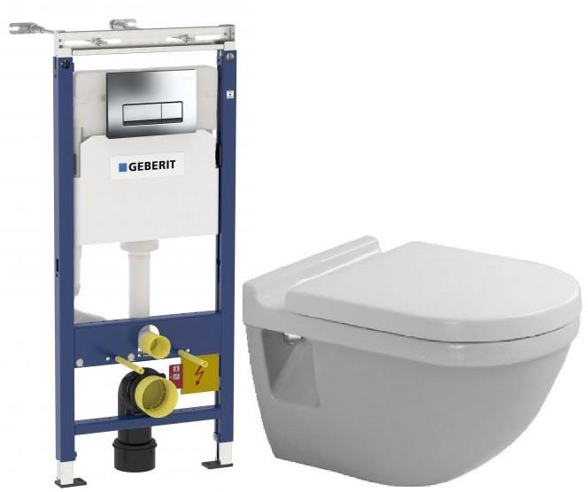Комплект подвесной унитаз Duravit Starck 3 2200090000 + 0063810000 + система инсталляции Geberit 458.125.21.1 фото