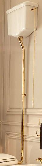 цена на Сливная труба для высокого бачка (труба из 3 частей) золото Kerasan Waldorf 754791oro