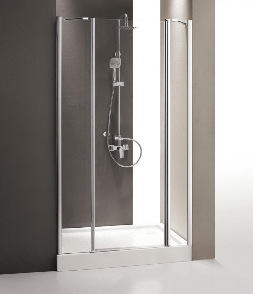 цена Душевая дверь распашная Cezares Triumph 195 см прозрачное стекло TRIUMPH-D-B-13-100+60/40-C-Cr-R