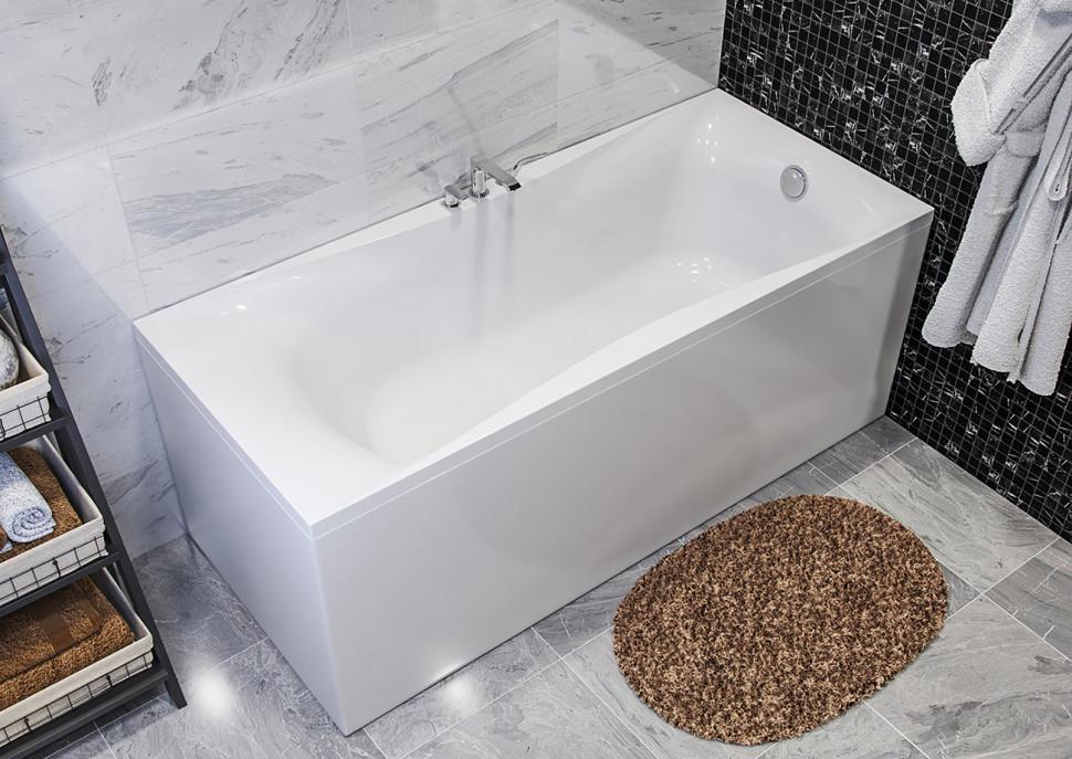Ванна из литого мрамора 180х80 см Astra-Form Вега Люкс 010146 ванна astra form роксбург белая