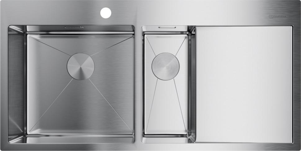 цена на Кухонная мойка нержавеющая сталь Omoikiri Akisame 100-2-IN-L