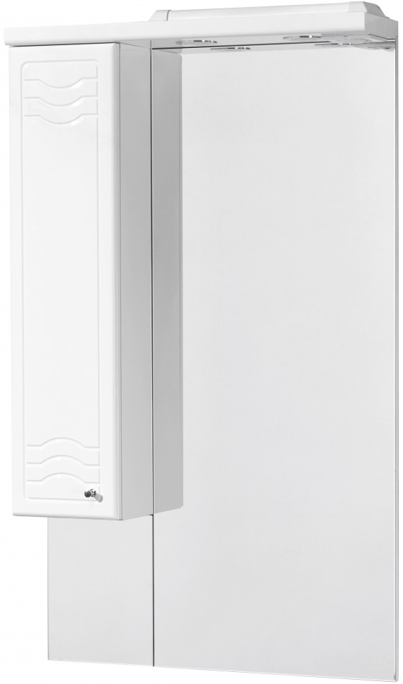 Зеркальный шкаф 65х110,3 см белый глянец L Акватон Домус 1A008202DO01L зеркальный шкаф 65х85 см белый глянец r акватон домус 1a166202ll01r