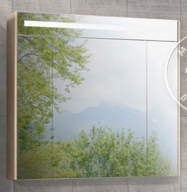 Зеркальный шкаф Блент 80 кремовый Акватон 1A161002BLA70 тумба акватон блент 80