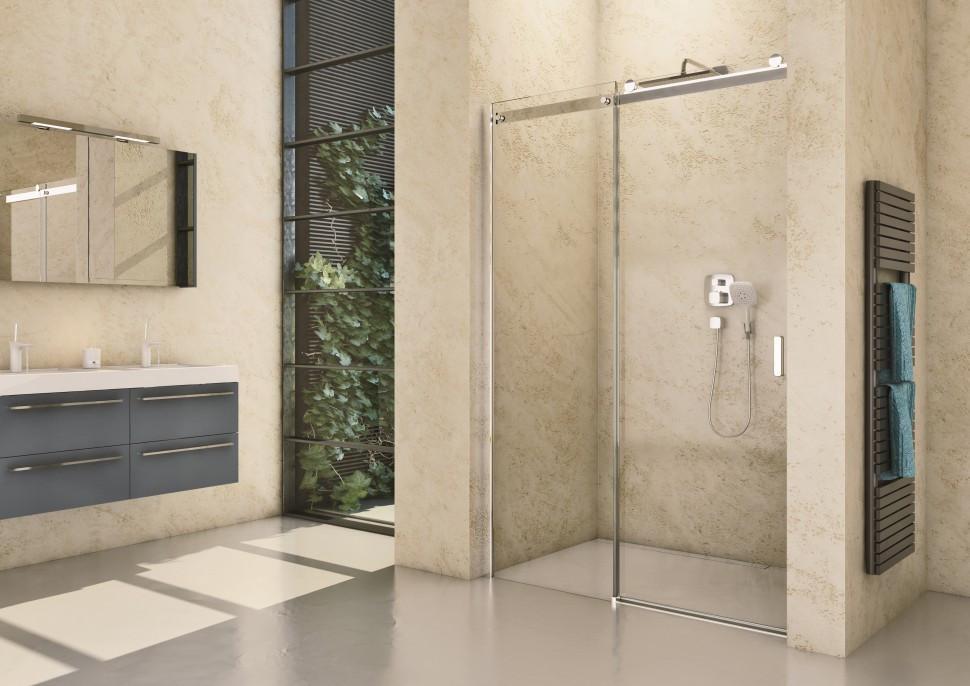 Душевая дверь 139,4 см Riho Baltic B104 GE0070400 прозрачное фото