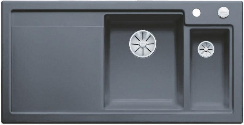 Кухонная мойка Blanco Axon II 6S InFino базальт 524147 кухонная мойка blanco axon ii 6s infino матовый белый 524142
