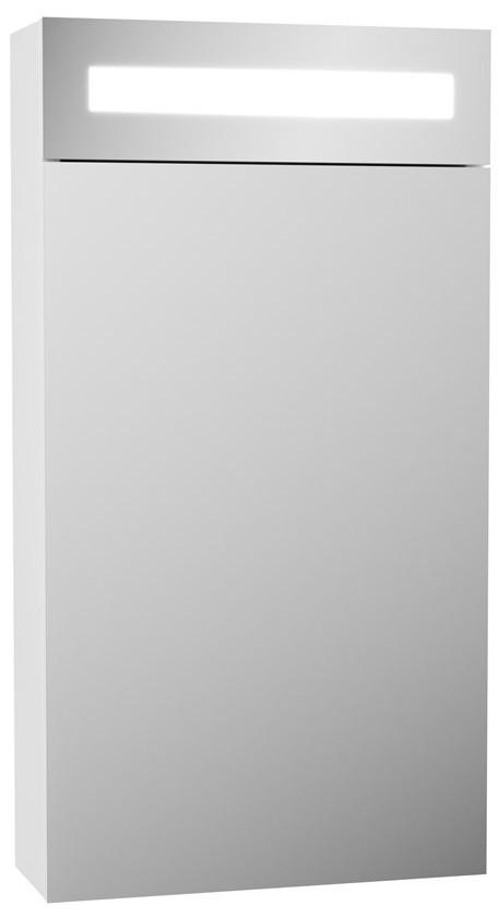Купить со скидкой Зеркальный шкаф 40х80 см белый OWL 1975 Runn W07.04.00
