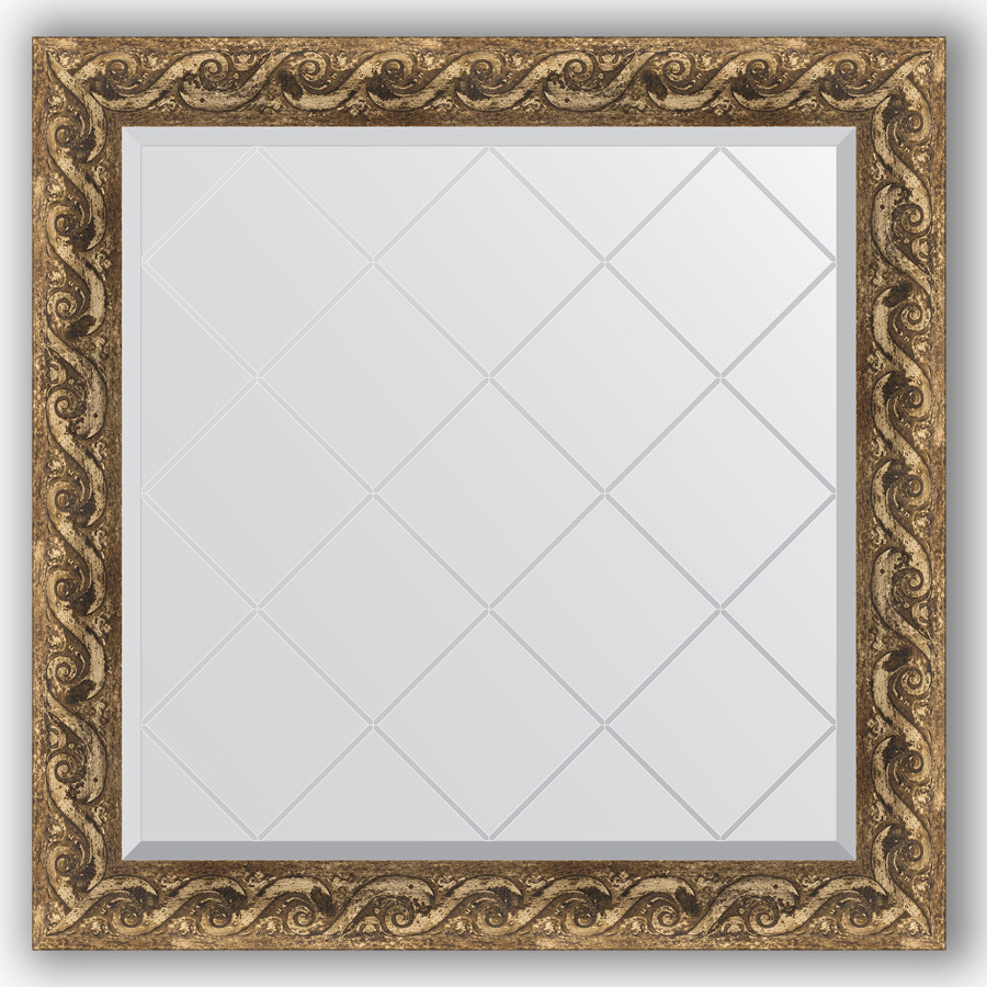Зеркало 86х86 см фреска Evoform Exclusive-G BY 4313 зеркало evoform exclusive g 185х131 фреска