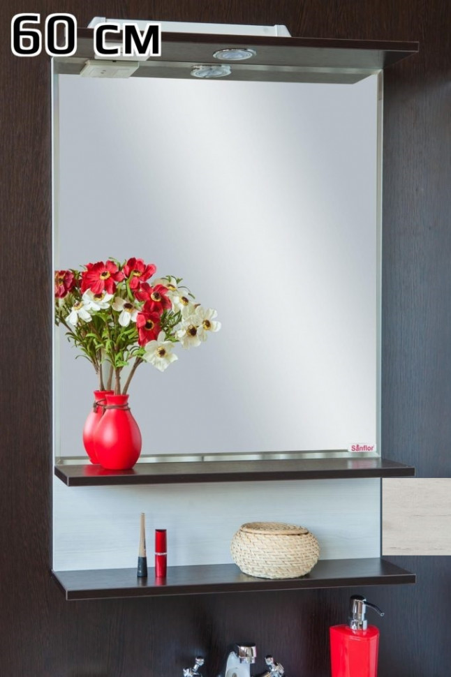 Зеркало 57,6х88 см венге/орегон Sanflor Турин C0000002136