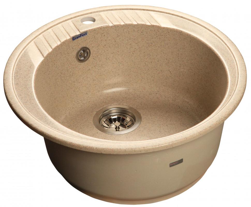 Кухонная мойка песочный GranFest Rondo GF-R520 цена