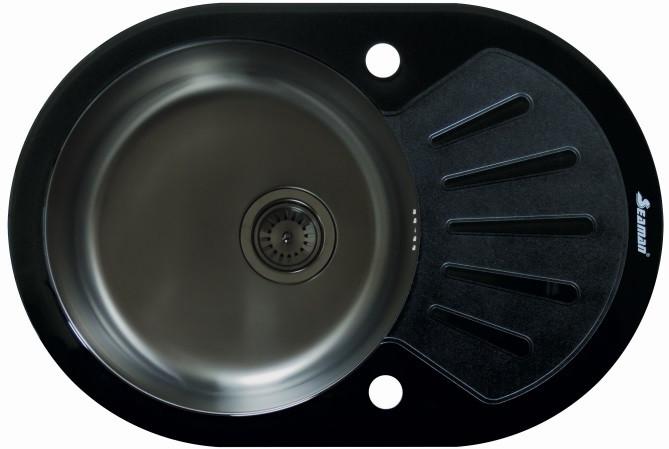 Кухонная мойка Seaman Eco Glass SMG-730B-Gun.B