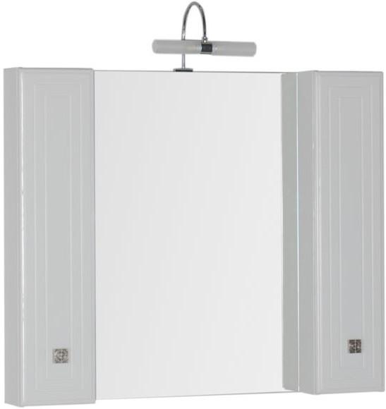 Зеркальный шкаф 104,5х88,1 см белый Aquanet Стайл 00181507 еж стайл линейка коняшка цвет антрацитовый 15 см