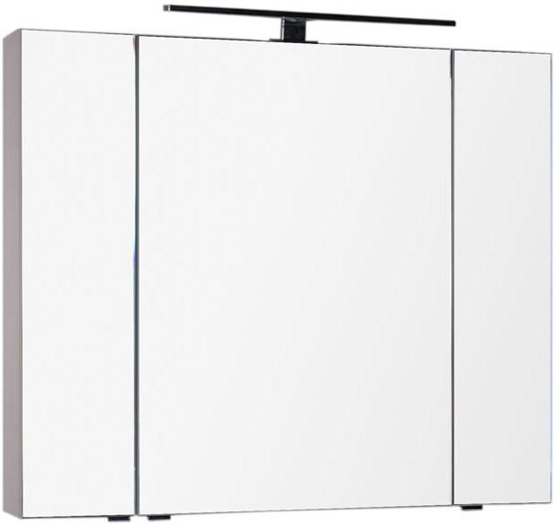 Зеркальный шкаф 100х85 см капучино Aquanet Эвора 00184002