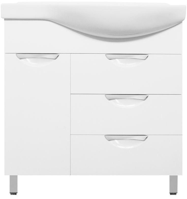 Тумба с раковиной белый глянец 83 см L Style Line Жасмин LC-00000526T