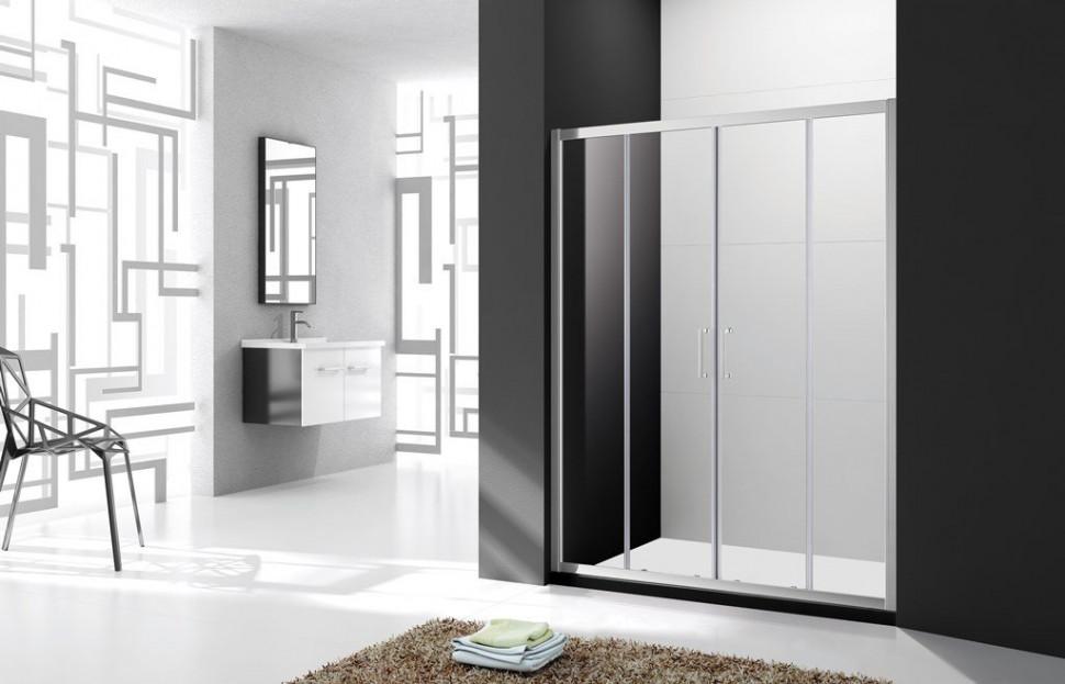 Душевая дверь 160 см Cezares MOLVENO-BF-2-160-C-Cr-IV прозрачное