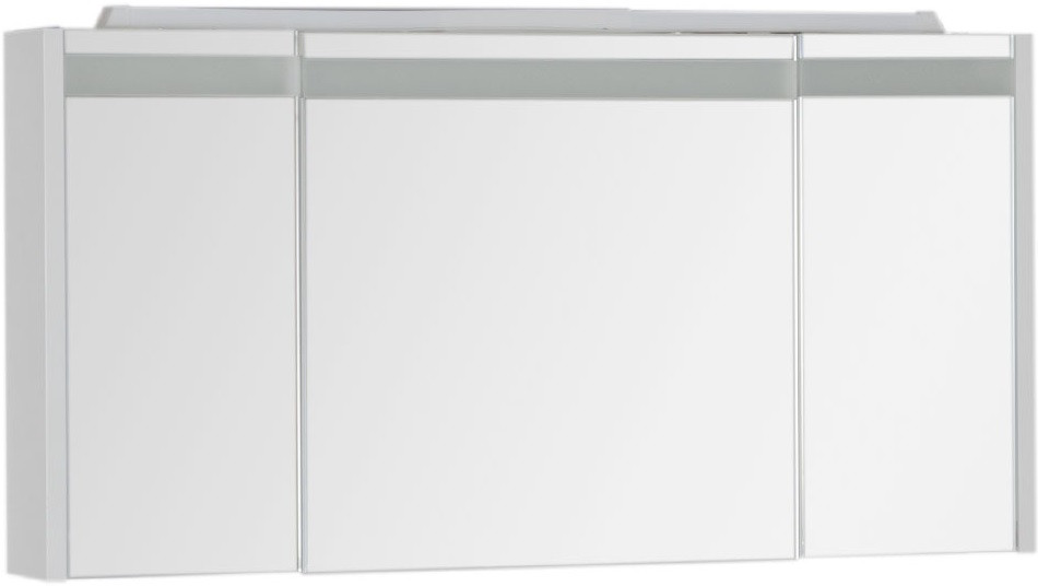 Зеркальный шкаф 119х60 см с подсветкой белый Aquanet Лайн 00164935 aquanet шкаф с зеркалом aquanet лайн 90 камерино l