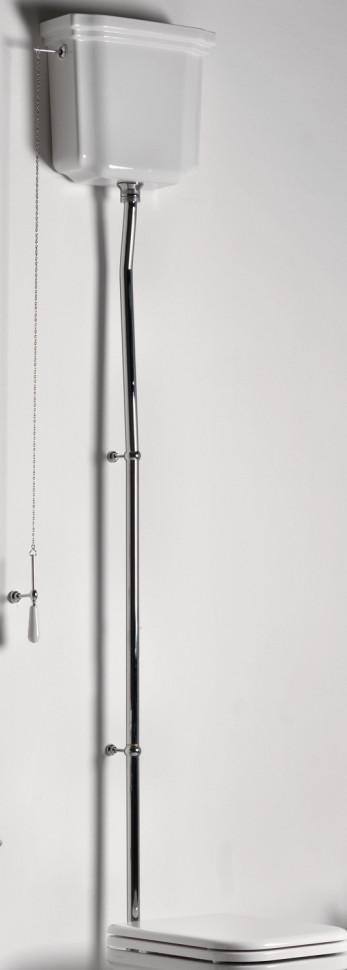 цена на Сливная труба для высокого бачка (труба из 3 частей) хром Kerasan Waldorf 754790cr