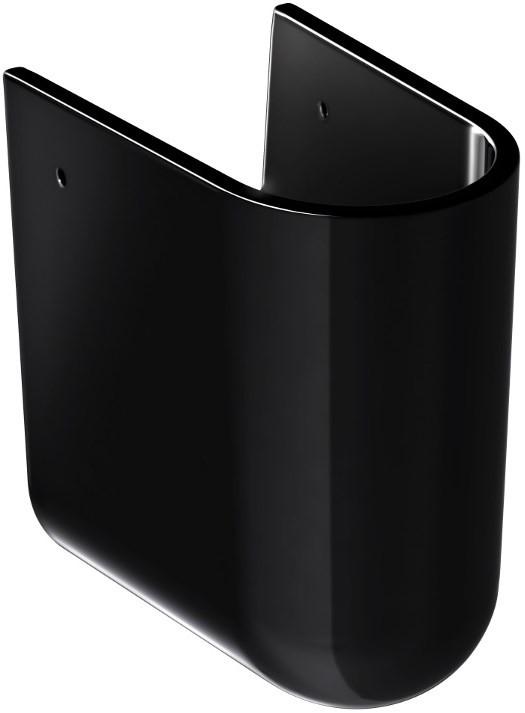 Полупьедестал для раковины черный Gustavsberg Estetic 729700S0 полупьедестал gustavsberg artic gb1149310100