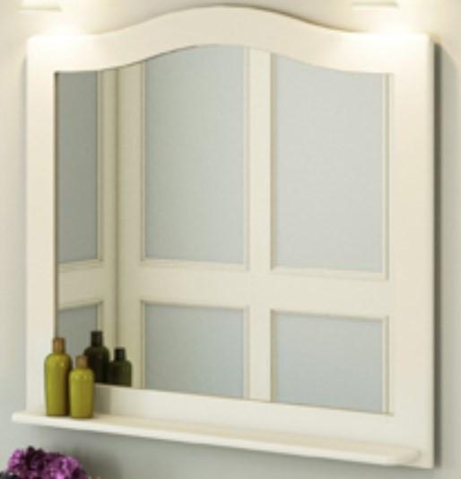 Зеркало 100х90 см белый глянец Comforty Монако 00004136986 зеркало comforty монако 120 белое
