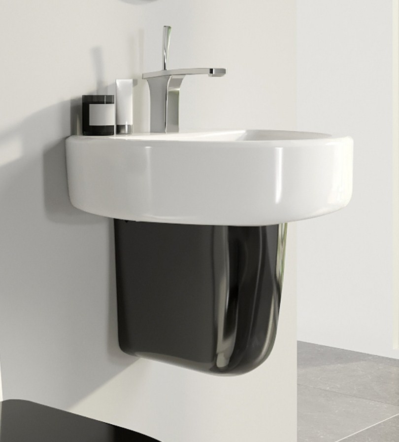 Полупьедестал Sanita Luxe Best Color Black SL300601