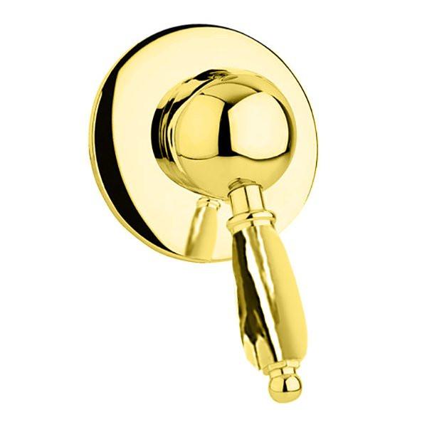 Смеситель для душа золото 24 карат, ручка металл Cezares Elite ELITE-DIM-03/24-M смеситель для душа cezares elite elite dm 03 24 m