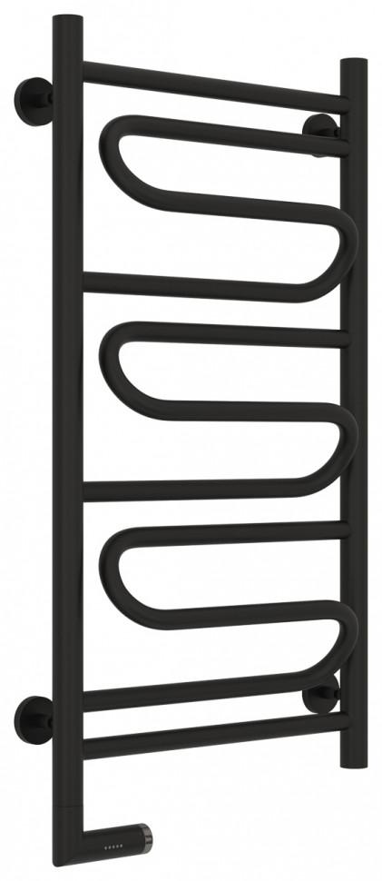 Полотенцесушитель электрический 800х400 черный матовый МЭМ левый Сунержа Элегия 2.0 31-5218-8040 полотенцесушитель электрический 800х400 белый глянец мэм правый сунержа модус 2 0 12 5601 8040