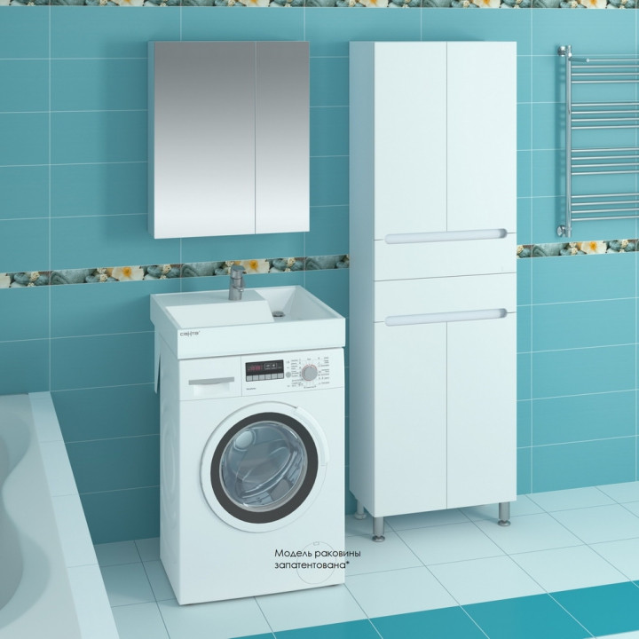 Раковина над стиральной машиной 60х60 см с кронштейнами Санта Юпитер 900116
