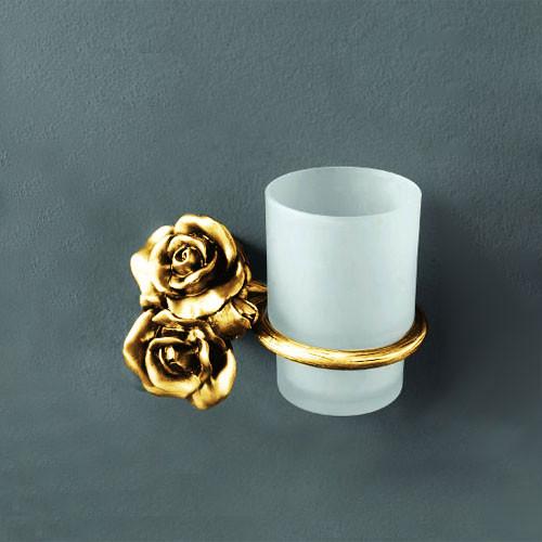 Стакан с держателем золото Art&Max Rose AM-0914-Do
