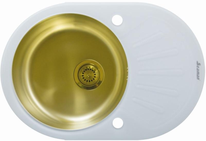 Кухонная мойка Seaman Eco Glass SMG-730W-Gold.B