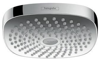 Верхний душ EcoSmart 9 л/мин Hansgrohe Croma Select E 180 2jet 26528400 верхний душ hansgrohe croma select e 180 26524000 хром