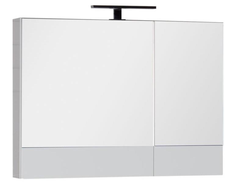 Зеркальный шкаф 90х67 см белый Aquanet Нота 00165371