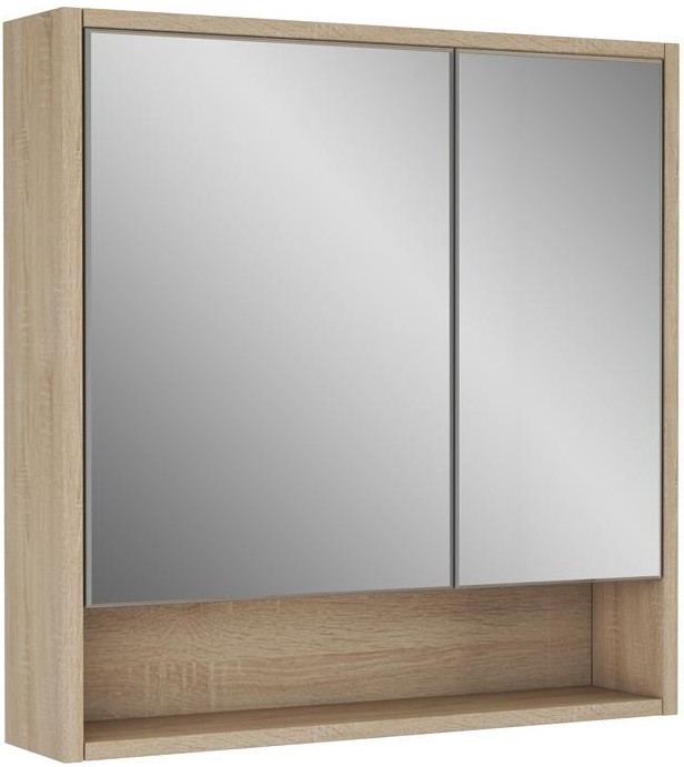 Зеркальный шкаф 75х70 см дуб сонома Alvaro Banos Toledo 8409.7012 душевой уголок alvaro banos toledo toledo s90 10 cromo