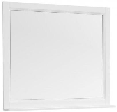 Зеркало 100х89,5 см белый матовый Aquanet Бостон 00209674 премьер бостон 1100 2 белый зеркало зеркало