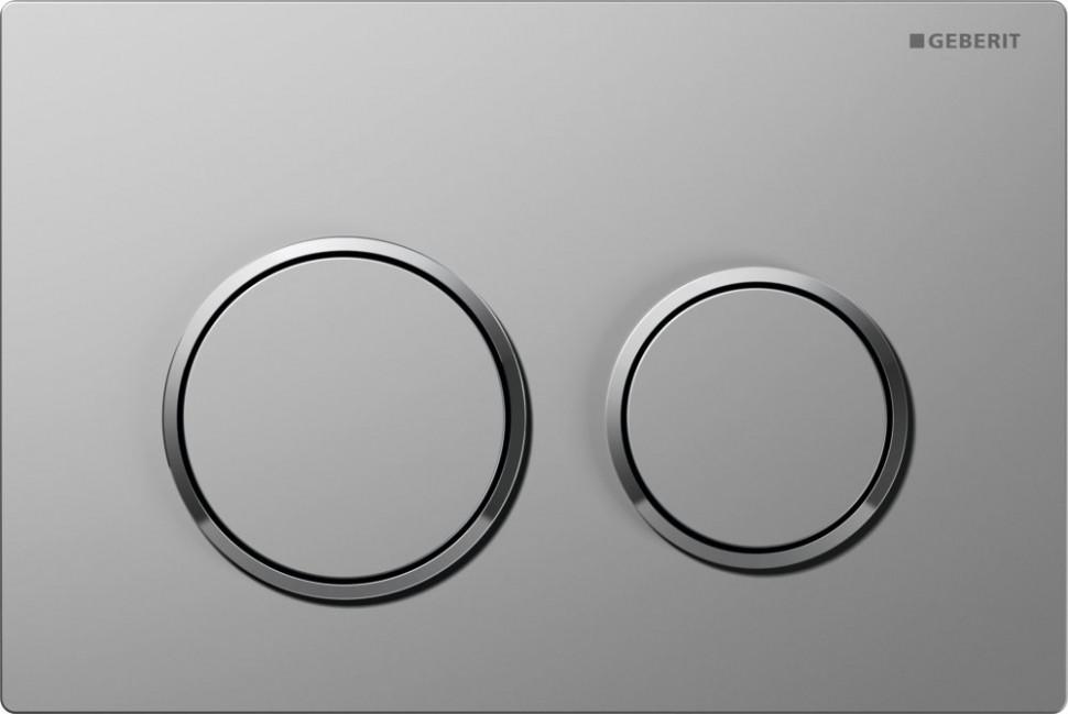 Смывная клавиша Geberit Omega20 матовый хром/глянцевый хром/матовый хром для двойного смыва 115.085.KN.1 цена и фото