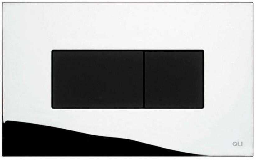 Смывная клавиша OLI Karisma Soft touch глянцевый хром/черный 641019